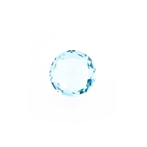 Blautopas, Sky Blue, himmelblau, Briolett, facettiert, rund, 8 mm