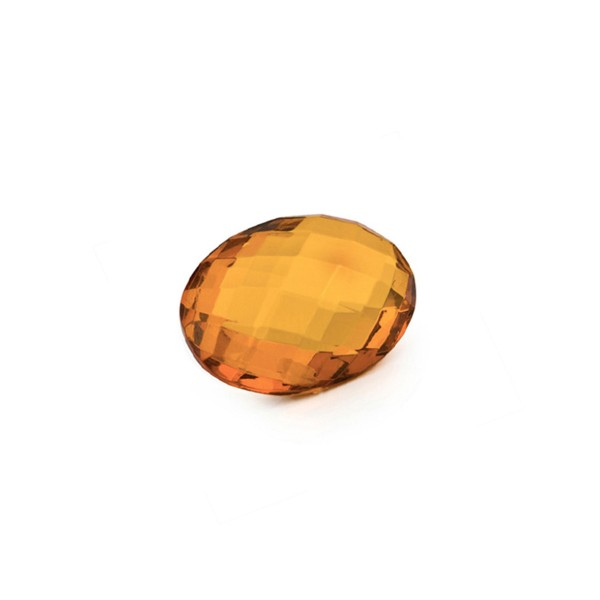 Natural amber, cognac-colored, briolette, oval, 12 x 10 mm