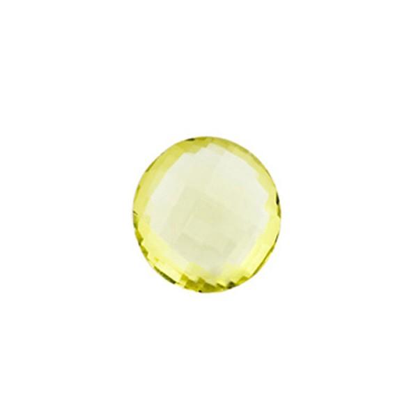 Lemonquarz, lemon, intensiv, Briolett, facettiert, rund, 10mm
