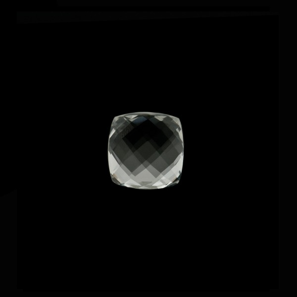 Rock crystal, transparent, colorless, faceted briolette, antique shape, 6 x 6 mm