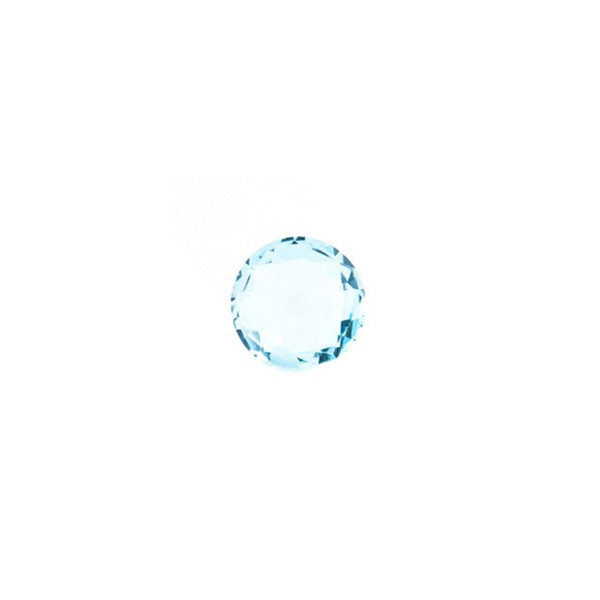 Blautopas, Sky Blue, himmelblau, Briolett, facettiert, rund, 6 mm