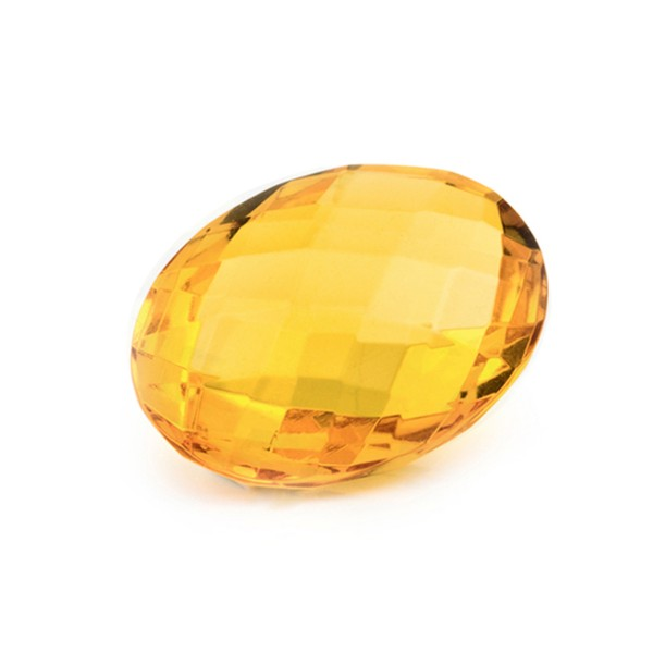 Natural amber, golden, briolette, oval, 20 x 15 mm