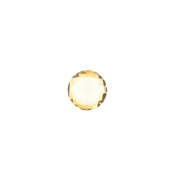 Citrine, light golden color, faceted briolette, round, 6 mm