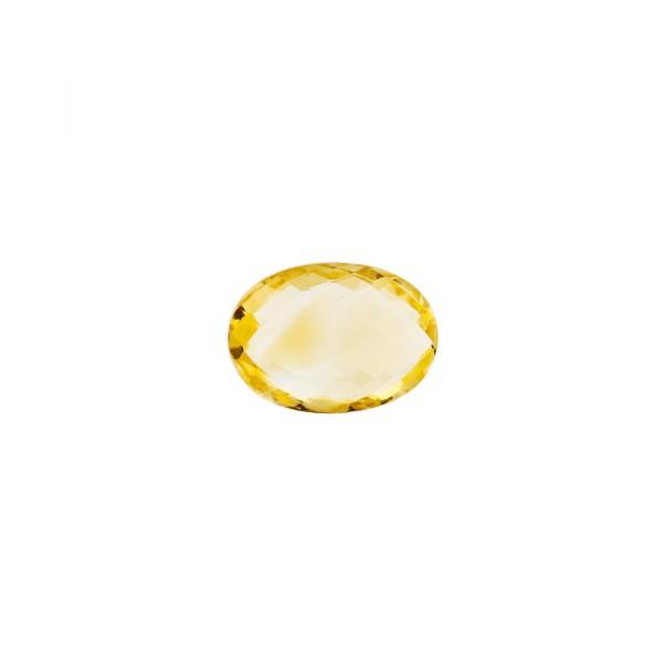 Citrine, golden color, faceted briolette, oval, 8 x 6 mm