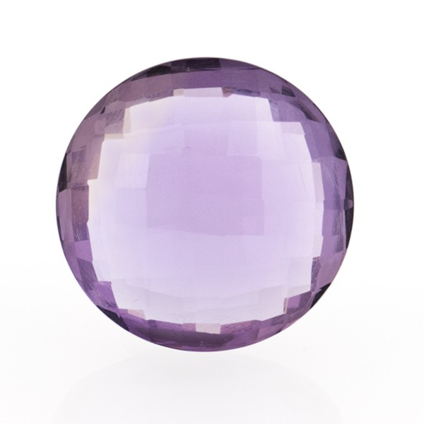 Amethyst (Brazil), dark violet, faceted briolette, round, 16 mm