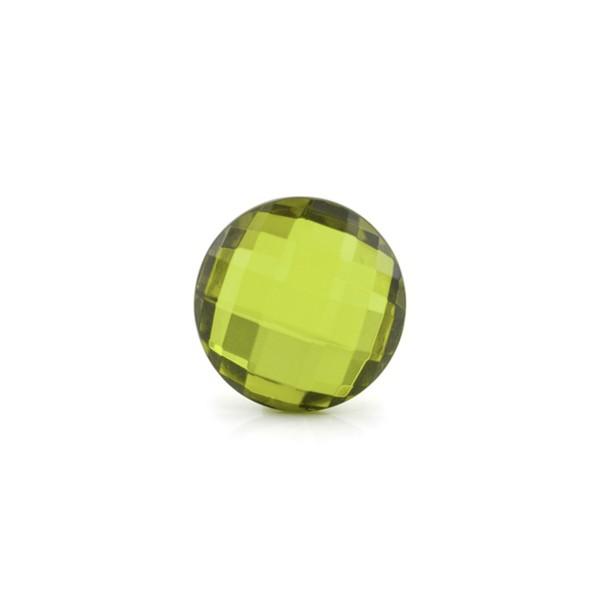 Natural amber, green, briolette, round, 10 mm