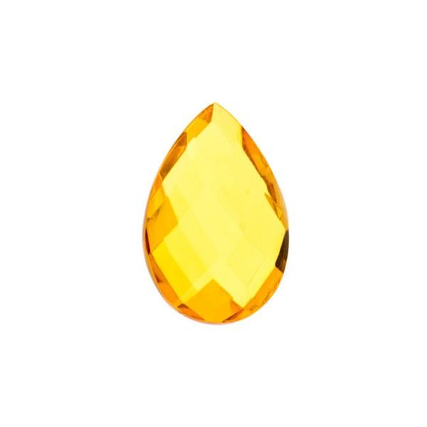 Natural amber, golden, briolette, pear shape, 14 x 10 mm