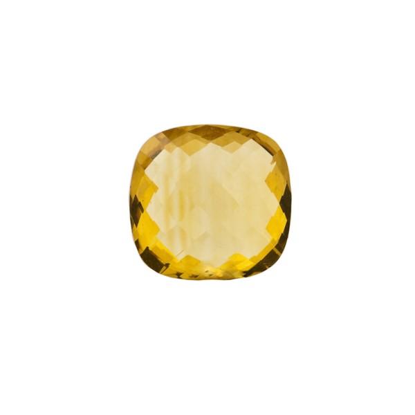 Citrine, golden color, faceted briolette, antique shape, 10 x 10 mm