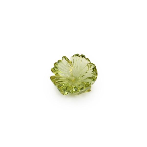 Bernstein (natur), grün, Blume, fünfblättrig, Ø 15-16mm