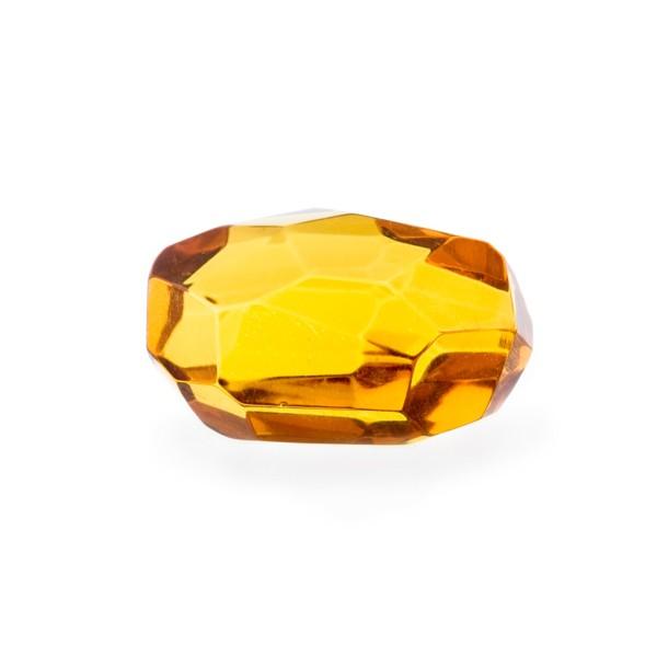 Bernstein (natur), cognacfarben, Nugget, facettiert, Briolett, fancy, irregulär, 25x18 mm