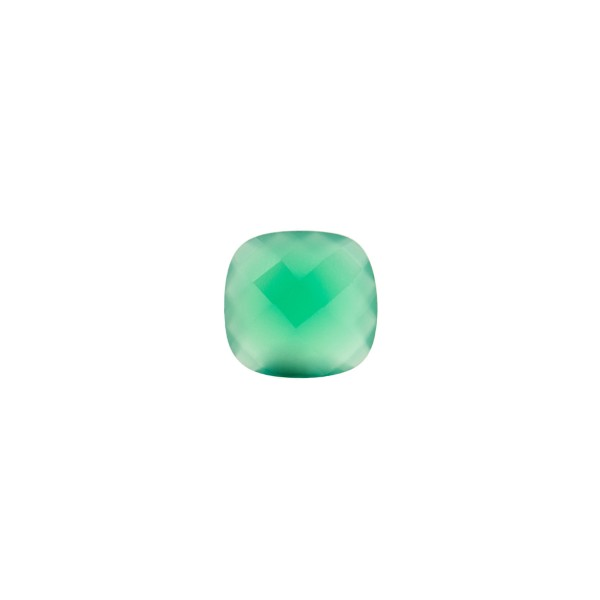 Agate, dyed, green, briolette, antique shape, 6 x 6 mm