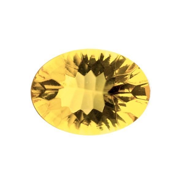 Natural amber, golden, buff top, concave, oval, 16 x 12 mm