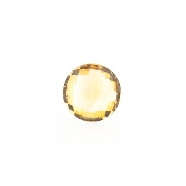 Citrine, golden color, faceted briolette, round, 8 mm