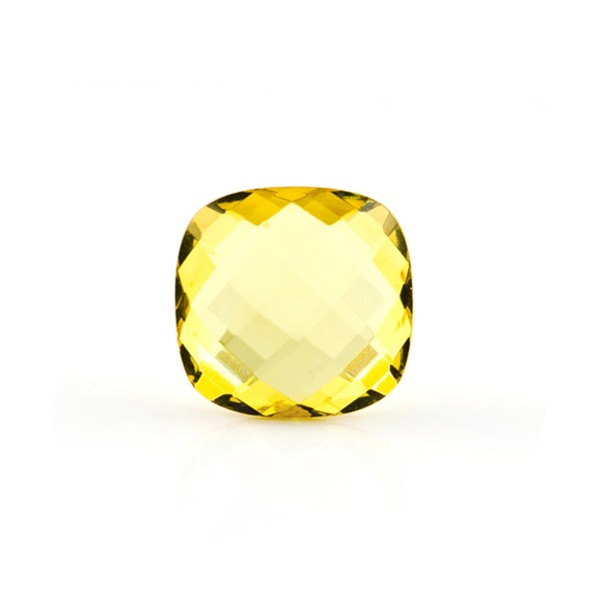 Bernstein (natur), lemon, Briolett, facettiert, antik, 10x10mm