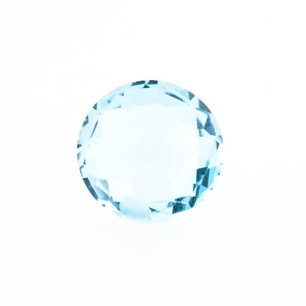 Blautopas, Sky Blue, himmelblau, Briolett, facettiert, rund, 12mm