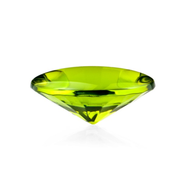 Bernstein (natur), grün, Buff Top, concave, rund, 18mm
