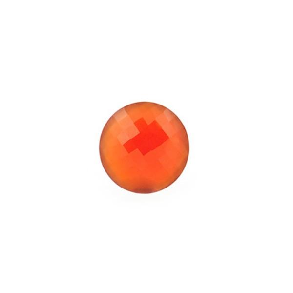 Achat, gefärbt, rot, Briolett, facettiert, rund, 8 mm