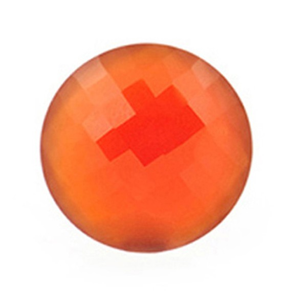 Achat, gefärbt, rot, Briolett, facettiert, rund, 16 mm