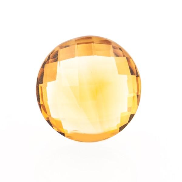 Citrin, palmeira, orange, Briolett, facettiert, rund, 14mm