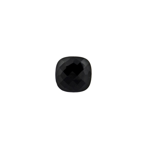 Onyx, treated, black, faceted briolette, antique shape, 6 x 6 mm