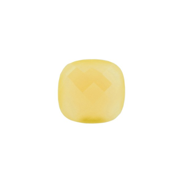Agate, dyed, yellow, briolette, antique shape, 8 x 8 mm