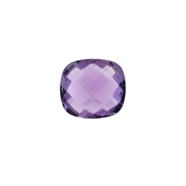 Amethyst (Brazil), dark violet, faceted briolette, antique shape, 8 x 8 mm