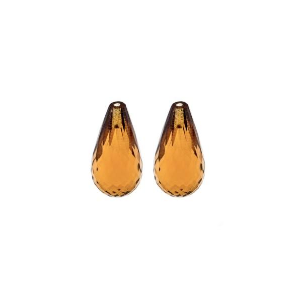Cognacquarz, cognacfarben, Pampel, facettiert, 15x8mm