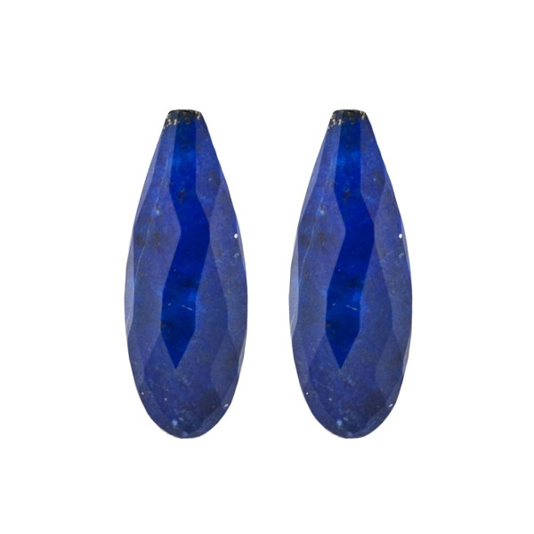 Lapis, blau, Pampel, facettiert, Harlekin, 30x12mm