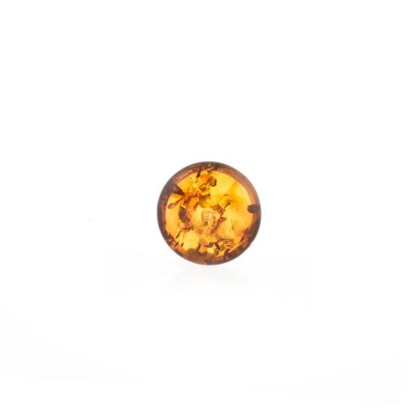 Bernstein, cognacfarben, Mabe, glatt, rund, 12mm