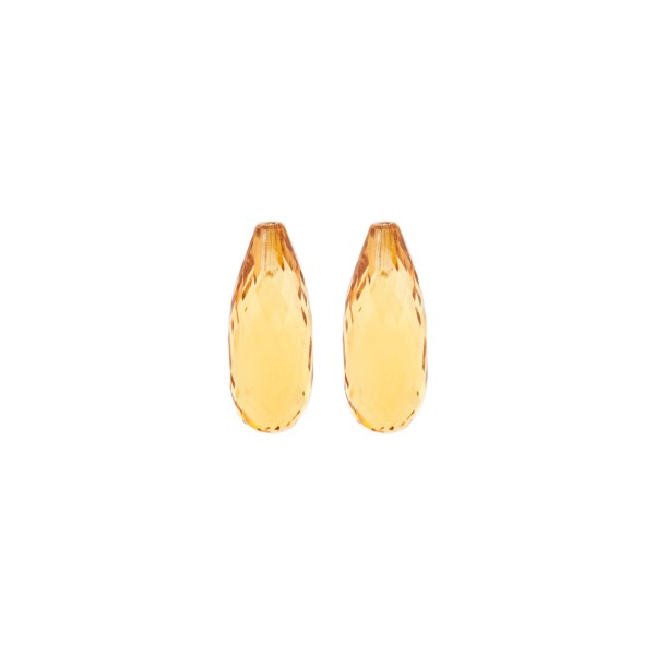 Citrine, palmeira, orange, teardrop, faceted, 15 x 6 mm