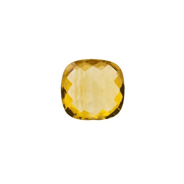 Citrine, golden color, faceted briolette, antique shape, 8 x 8 mm