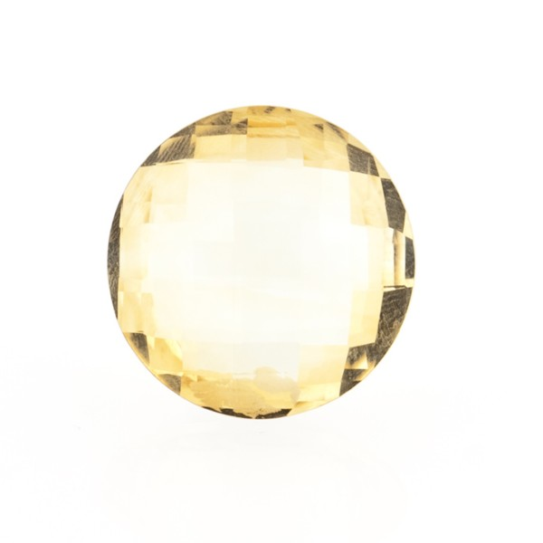 Citrin, goldfarben (hell), Briolett, facettiert, rund, 14mm