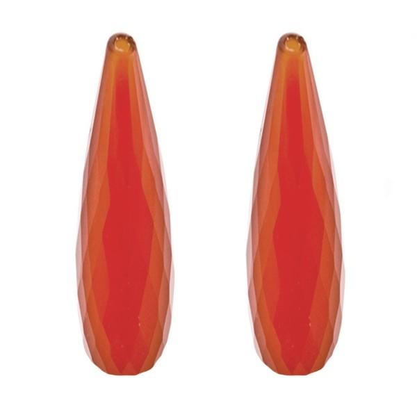 Achat, gefärbt, rot, Pampel, facettiert, 41x9 mm
