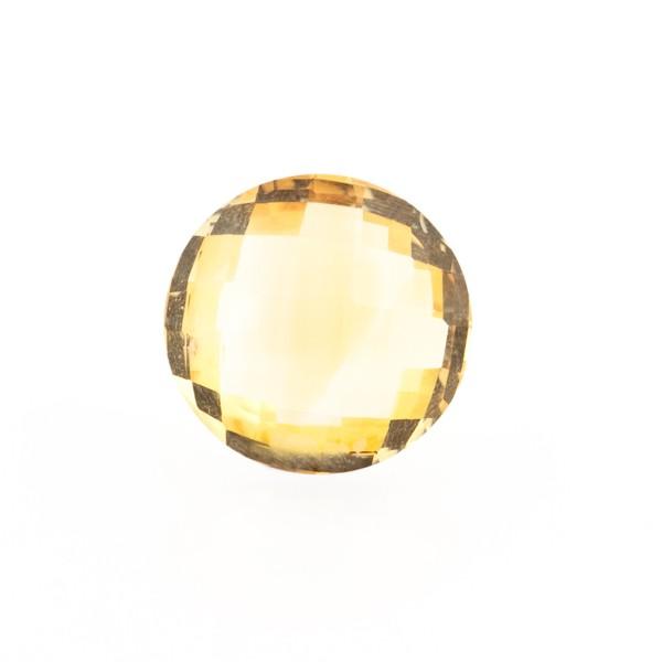 Citrin, goldfarben, Briolett, facettiert, rund, 12mm