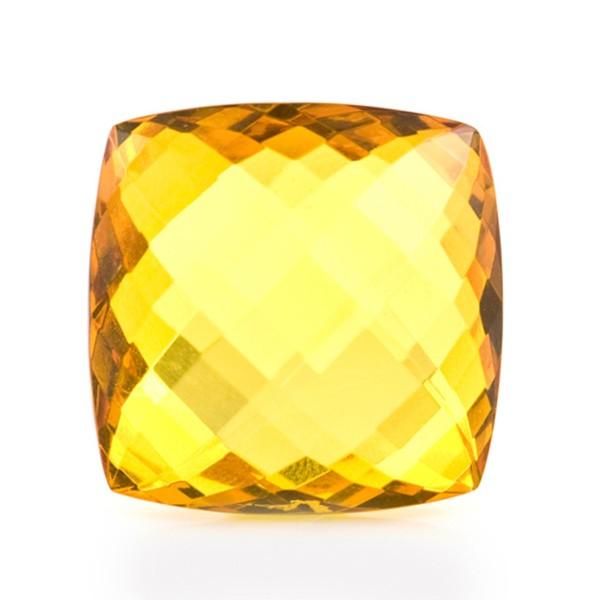Bernstein (natur), goldfarben, Briolett, facettiert, spitzantik, 18x18mm