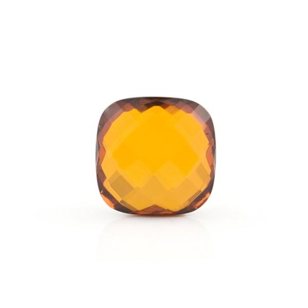 Natural amber, cognac-colored, briolette, antique shape, 12 x 12 mm