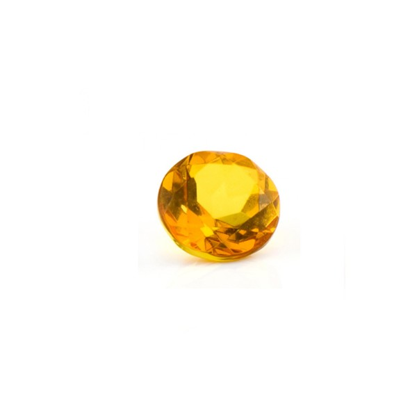 Natural amber, golden, faceted, round, 7 mm