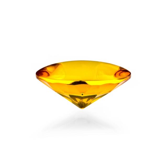 Bernstein (natur), goldfarben, Buff Top, concave, rund, 15mm