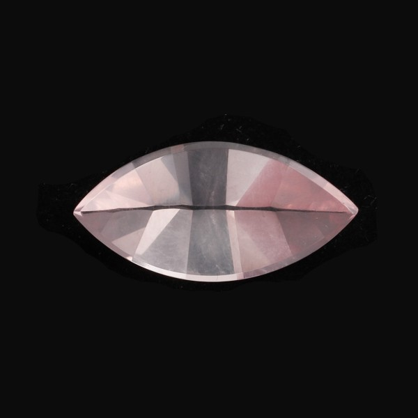 Rose Quartz, pink, faceted, mirror cut, navette, 20x10mm