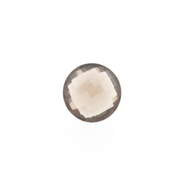Rauchquarz, hellbraun, Briolett, facettiert, rund, 8 mm