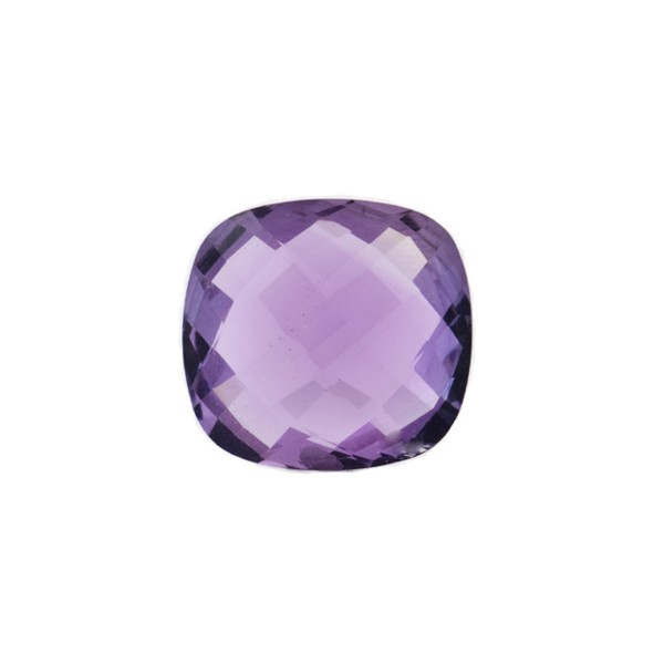 Amethyst (Brazil), medium violet, faceted briolette, antique shape, 12 x 12 mm