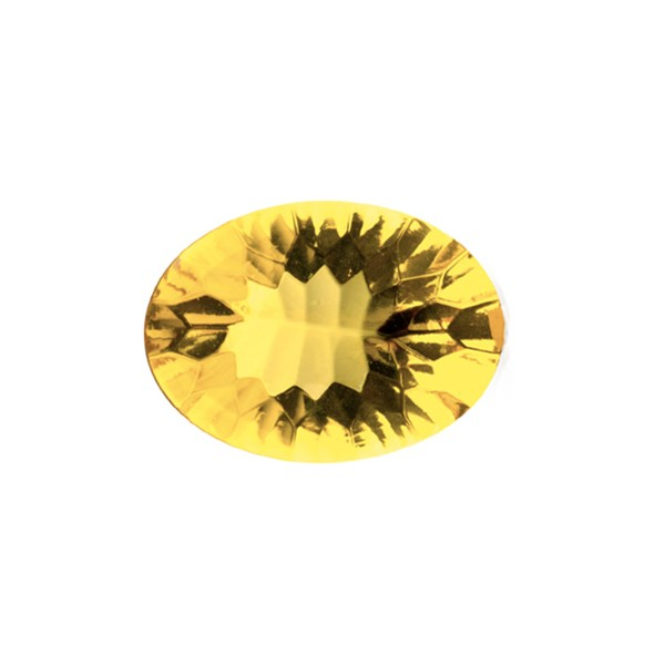 Natural amber, golden, buff top, concave, oval, 14 x 10 mm