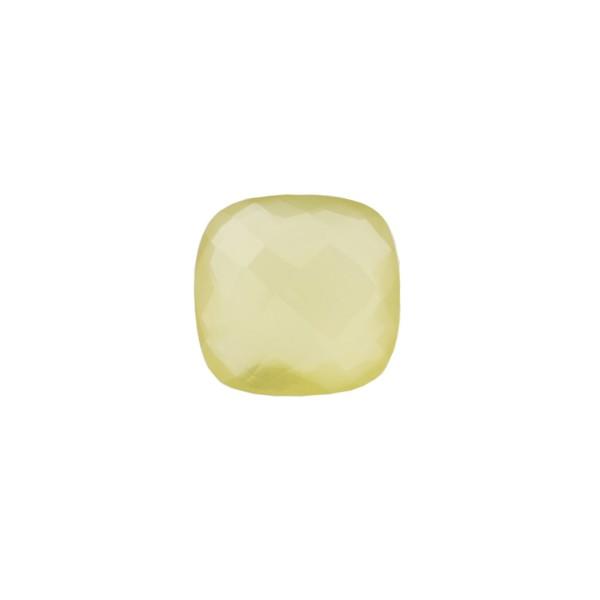 Lemon quartz, lemon, faceted briolette, antique shape, 8 x 8 mm