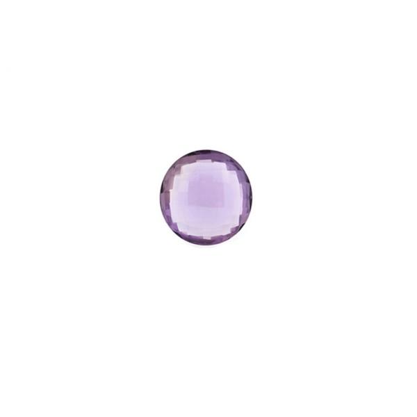 Amethyst aus Brasilien, dunkelviolett, Briolett, facettiert, rund, 6 mm