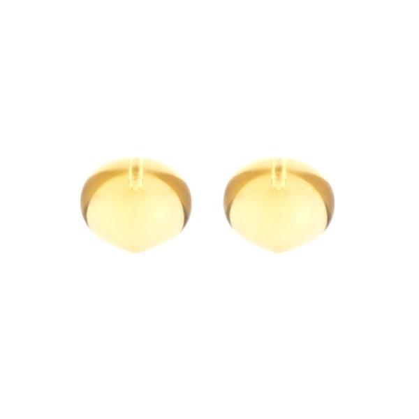 Citrine, golden color, teardrop, smooth, onion shape, 13 x 11 mm