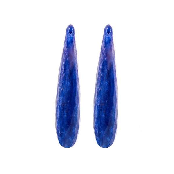 Lapis, blau, Pampel, facettiert, 35x8 mm