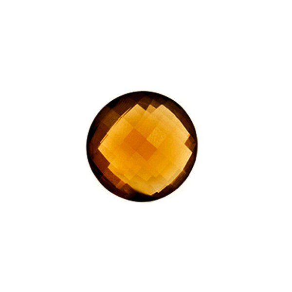 Cognacquarz, cognacfarben, Briolett, facettiert, rund, 10 mm