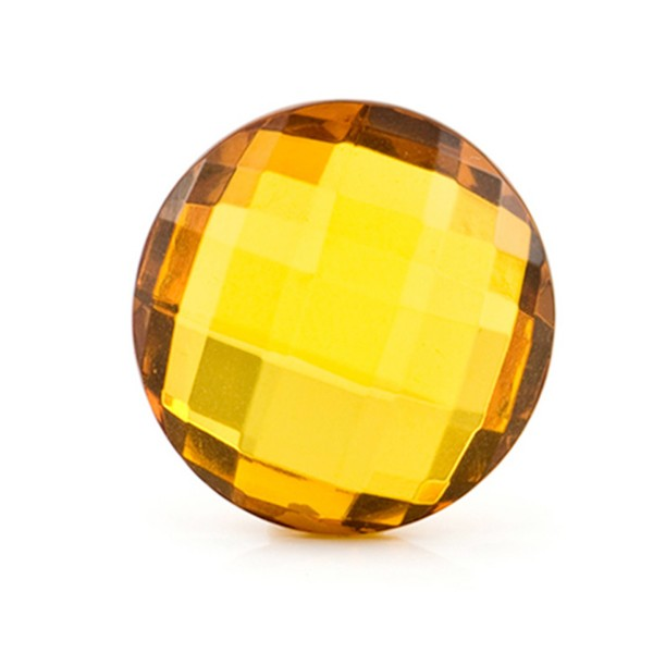Natural amber, golden, briolette, round, 18 mm