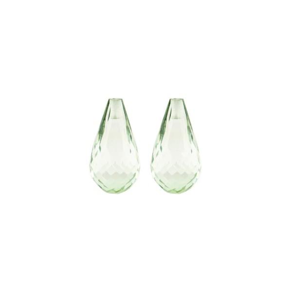 Prasiolith (Amethyst grün), Pampel, facettiert, 15x8mm