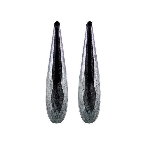 Hämatit (Blutstein), grau, Pampel, facettiert, 35x8 mm